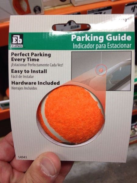 parking guide,tennis ball,there I fixed it,g rated