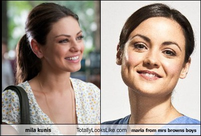 Mila Kunis Totally Looks Like Maria From Mrs. Brown's Boys