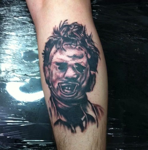 tattoos,leatherface,funny