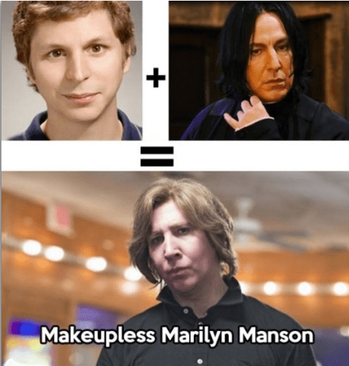 mindwarp,michael cera,totally looks like,marilyn manson,snape