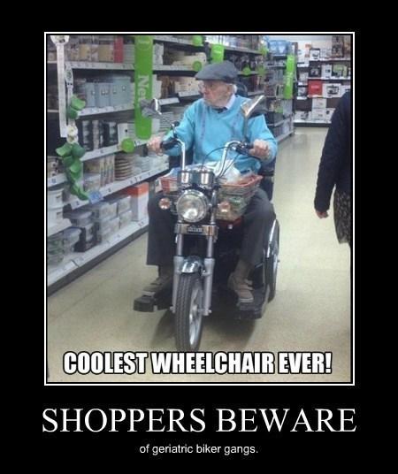 bikers,funny,grandfather,gangs,wheelchair