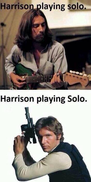 Han Solo,george harrison,Harrison Ford,solo