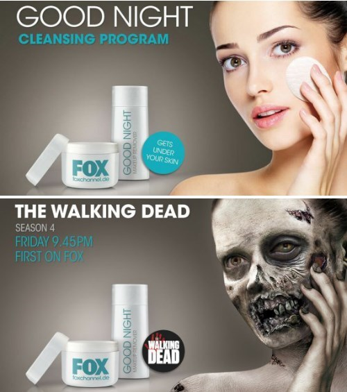 German Billboard Zombifies Cosmetic Ad As You Approach