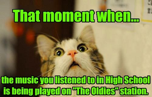 Cats,high school,getting older,oldies,that moment when
