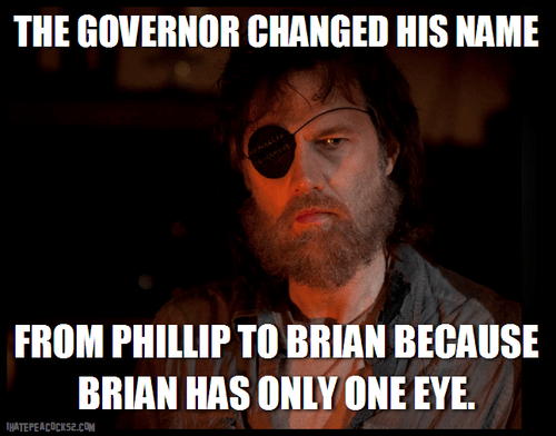 eyepatch,puns,the governor