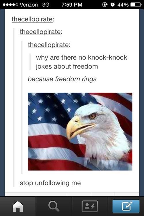 freedom,puns,tumblr,let freedom ring
