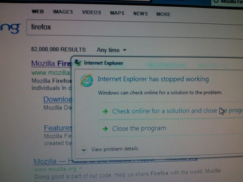You Had One Job, Internet Explorer, And You Even Screwed That Up