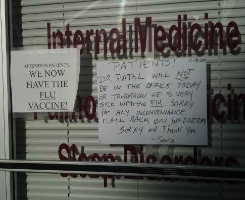 flu,doctor,irony,funny