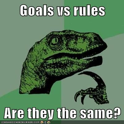 Goals vs rules  Are they the same?