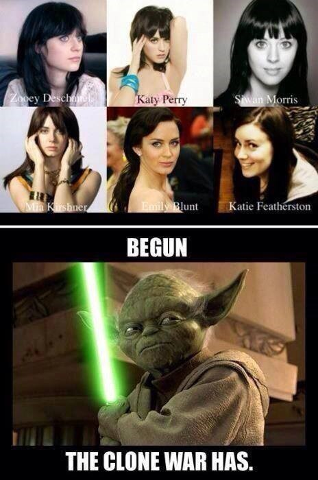 katy perry,yoda,zooey deschanel,clone wars,look a like
