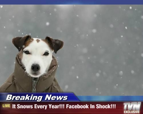 Breaking News - It Snows Every Year!!! Facebook In Shock!!!
