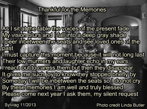 Thankful for the Memories