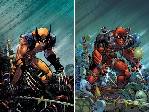 deadpool,totally looks like,wolverine,off the page