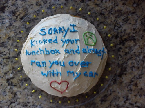 apologies,cake,there I fixed it
