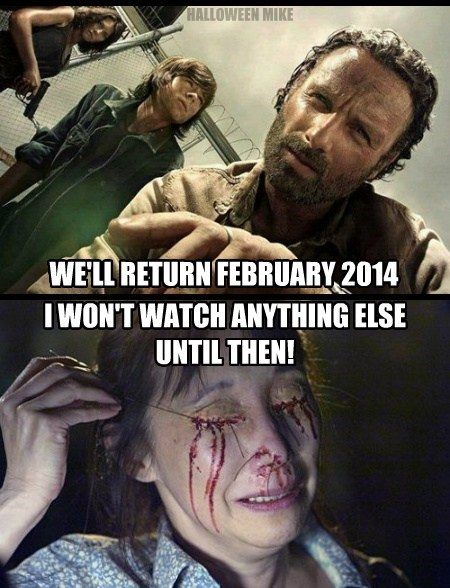 The Walking Dead will return in 2014