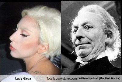 Lady Gaga Totally Looks Like William Hartnell (the First Doctor)