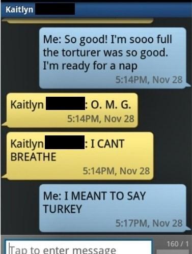 autocorrect,Turkey,text,eating,AutocoWrecks
