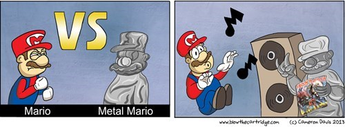 mario,iron maiden,metal,funny,web comics,Videogames