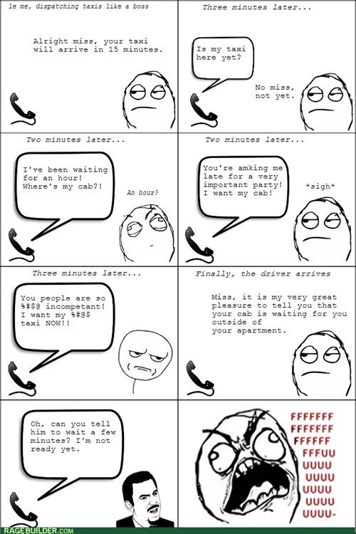 customer service,rage,taxi