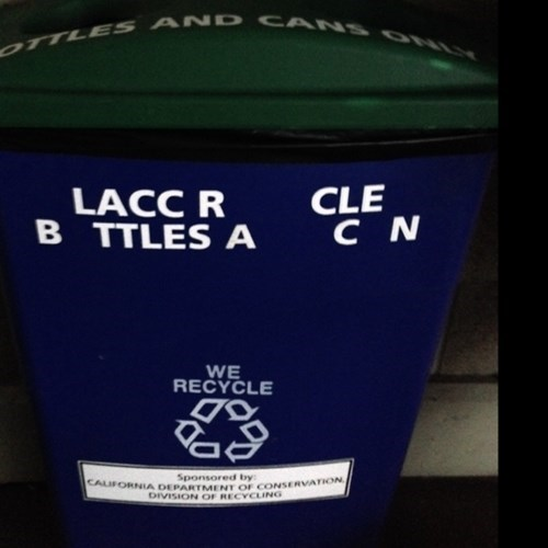 Go home, recycling can, you're drunk