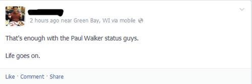 paul walker,too soon