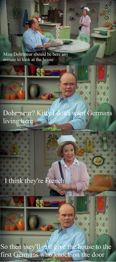 Red Forman Puts His Foot in Foreign Asses