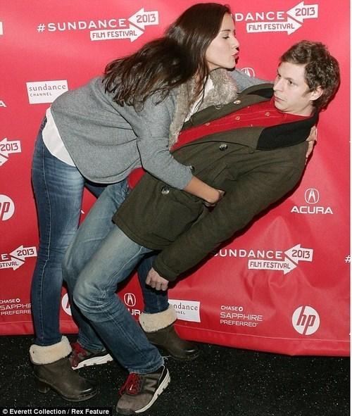 Awkward,michael cera,KISS,red carpet
