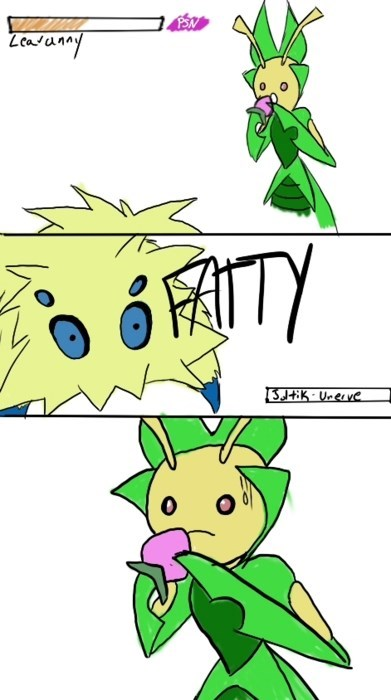 Pokémon,Leavanny,joltik,unnerve