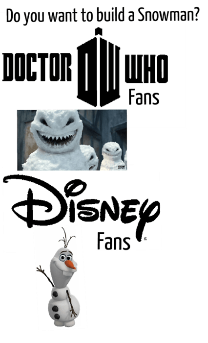 disney,doctor who,winter,frozen,snowman