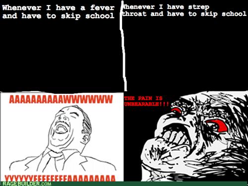 fever,school,strep throat