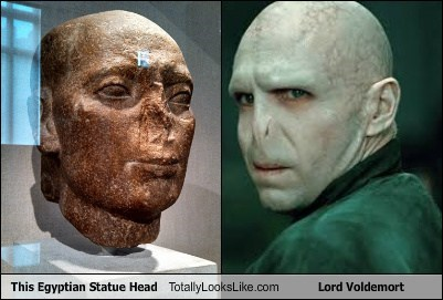 This Egyptian Statue Head Totally Looks Like Lord Voldemort