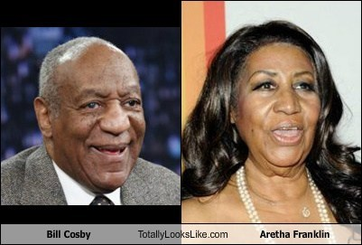 aretha franklin,bill cosby,totally looks like