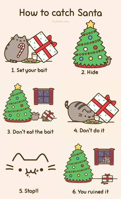 Kitties Love Cookies More Than Santa
