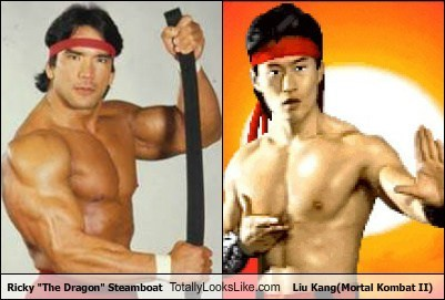 "Ricky ""The Dragon"" Steamboat Totally Looks Like Liu Kang(Mortal Kombat II)"
