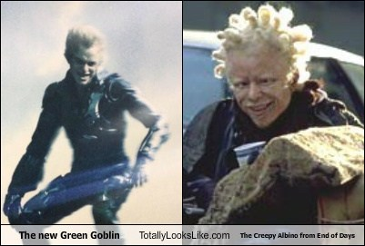 The New Green Goblin Totally Looks Like The Creepy Albino From End of Days
