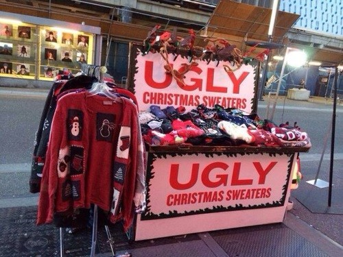 christmas,ugly sweater,sweater,g rated,poorly dressed