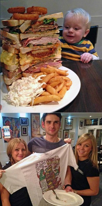 This Guy Conquered an 8000-Calorie Sandwich in Less than 45 Minutes