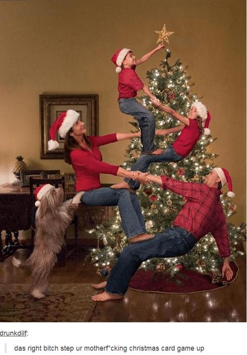 christmas card,christmas,stunt
