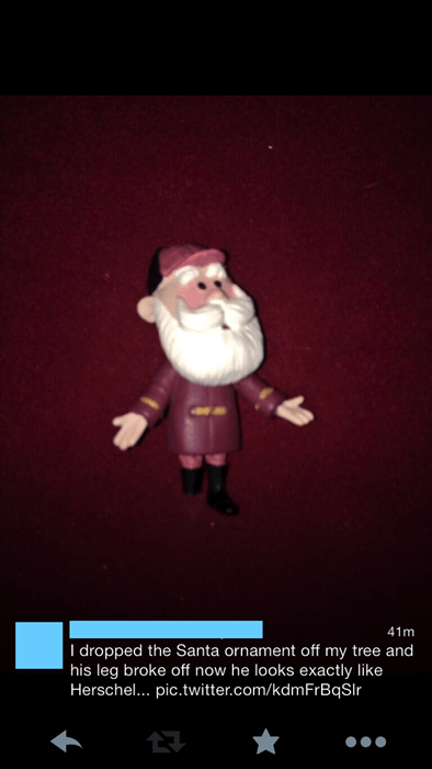 hershel greene,ornament,santa claus