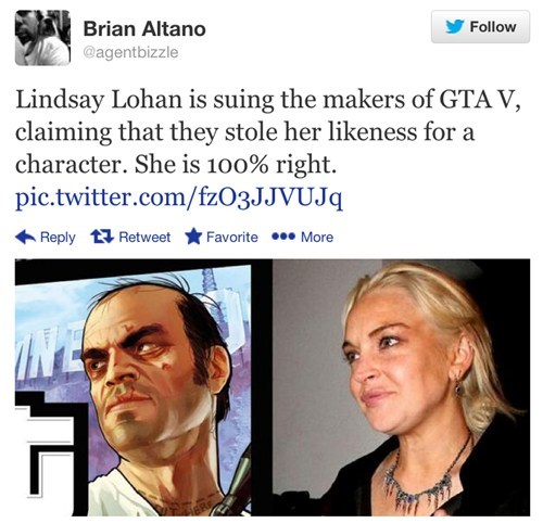 The Real Grand Theft Auto Character Lindsay Lohan is Suing Rockstar About