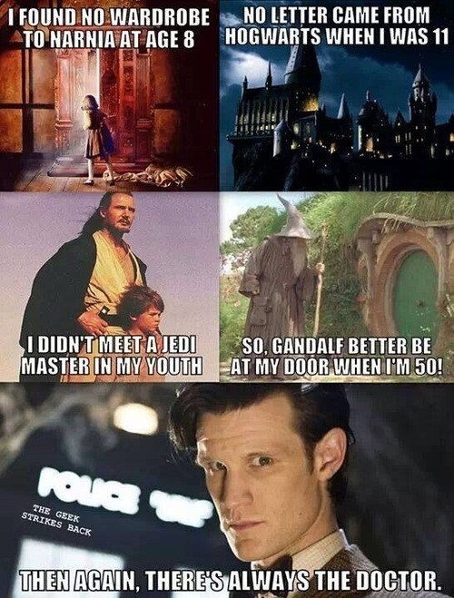 doctor who,Harry Potter,star wars,Lord of the Rings,narnia,wishes