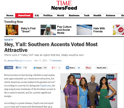 The Sexiest North American Accent Are Southern Accents