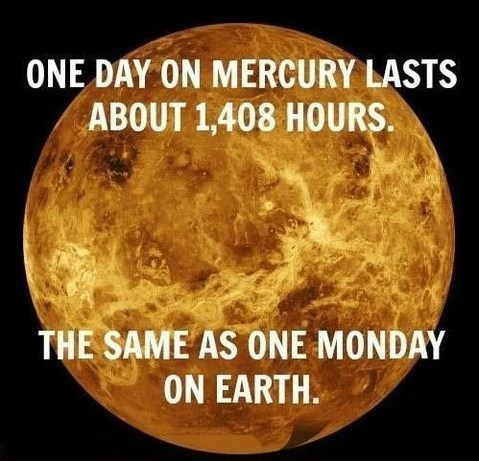 Mondays on Mercury