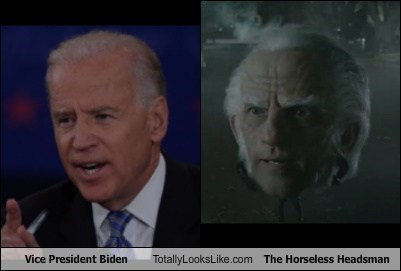 Vice President Biden Totally Looks Like The Horseless Headsman