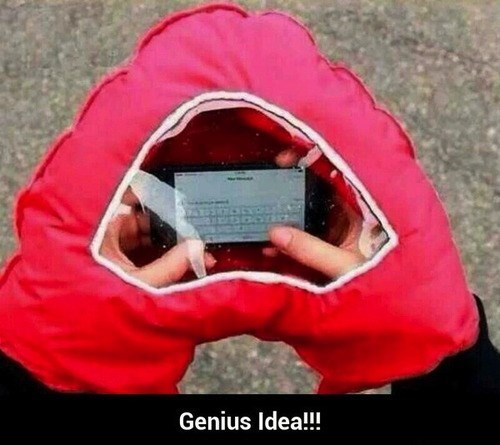 The Perfect Way to Text and Keep Warm During Crappy Weather