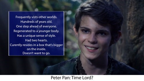 Is Peter Pan a Time Lord?