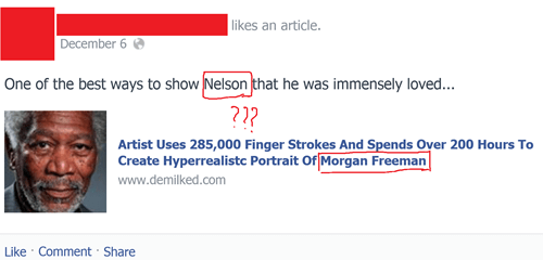 Nelson = Morgan Freeman?