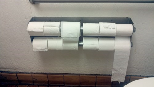 "No More ""We're Out of TP"" Complaints!"