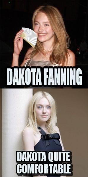 celeb,dakota fanning,puns
