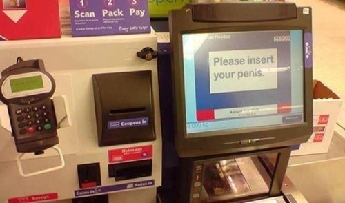 self checkout,grocery stores